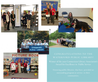 photo montage of staff at waterford public library