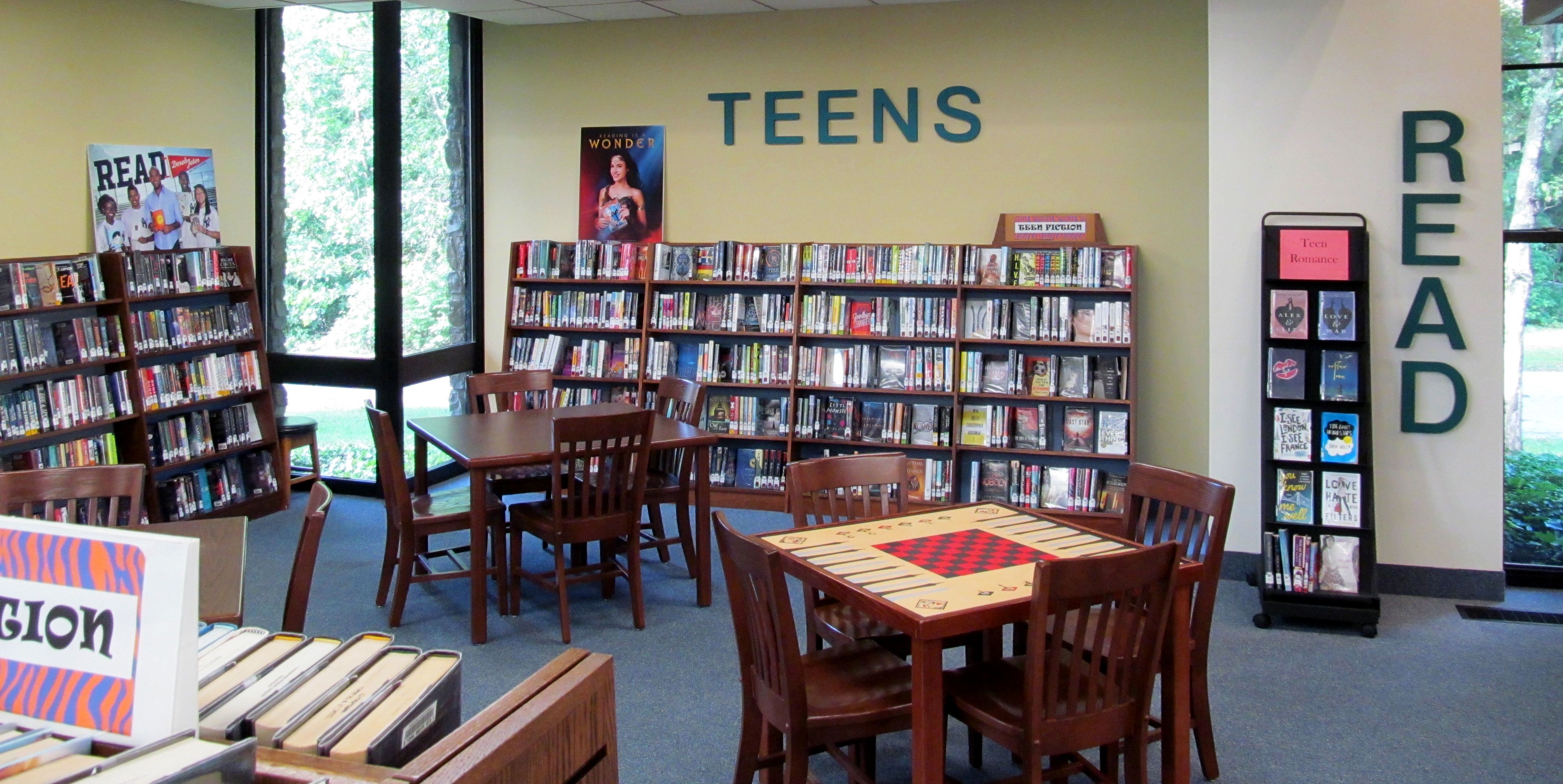 Teen Area of the Library